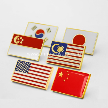 Custom Quality Metal Enamel Flag Badges